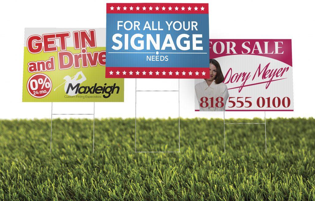 Custom Printed Yard Signs